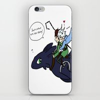 hiccup iPhone & iPod Skins featuring Hiccup, Jack, and Toothless by Gio Garcia