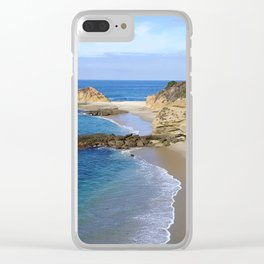 SECLUDED BEACH Clear iPhone Case