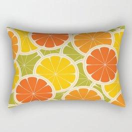 Orange, lemon and grapefruit Rectangular Pillow