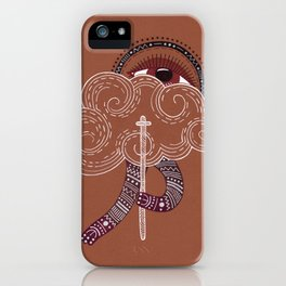 surreal creatue with cloud mask iPhone Case