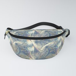 Rococo Rich Pattern design with Gold Relief  Fanny Pack