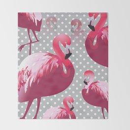 Watercolor Flamingo Pattern 6 Throw Blanket