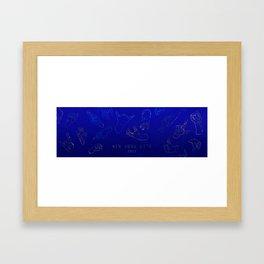 Golden Hands on Lapis Lazuli Framed Art Print