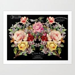 Nuit Des Roses Art Print