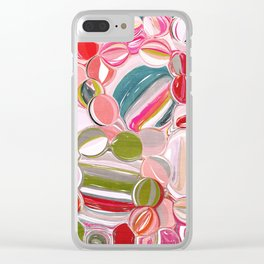 Beach Balls - Colorful Abstract Clear iPhone Case