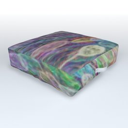 Rainbow cell vortex Outdoor Floor Cushion