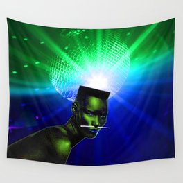 "Grace Jones ""Remixed"" Concept Album Cover Wall Tapestry"