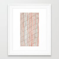 tape Framed Art Prints featuring tape by  Ray Athi