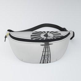 Windmill #blackandwhite Fanny Pack