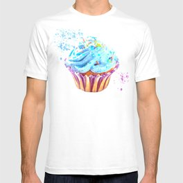 Cupcake watercolor illustration T-shirt