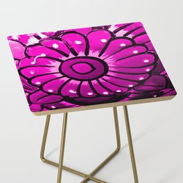 Talavera Hot Pink Side Table