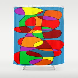 Abstract #22 Shower Curtain