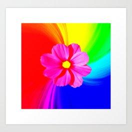 Flower melt Art Print