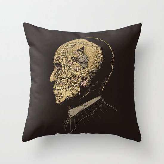 Why zombies want brains Throw Pillow