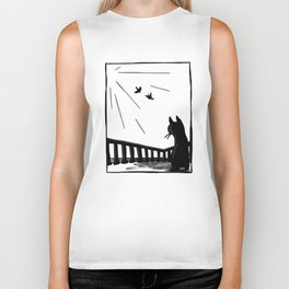 Bird watching Biker Tank