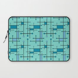 Intersecting Lines in Mint and Blues Laptop Sleeve