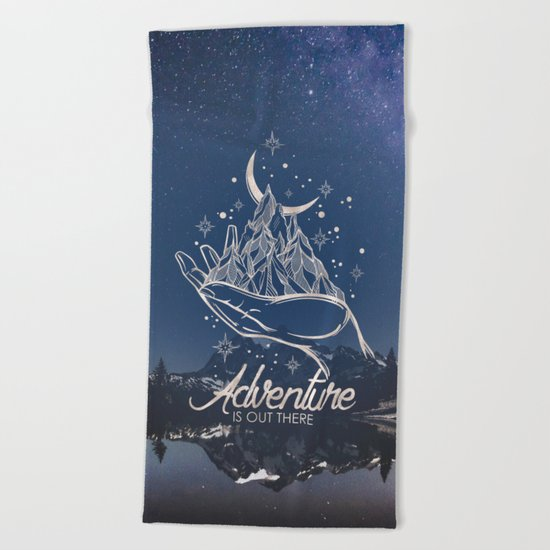Adventure is Out There Beach Towel