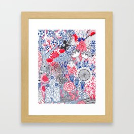 Floral Jungle Framed Art Print