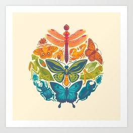Bugs & Butterflies Art Print