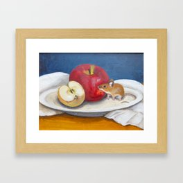 Mouse with Apples Framed Art Print