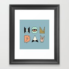MONDAY Framed Art Print