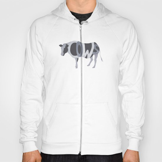 Cows Typography Hoody