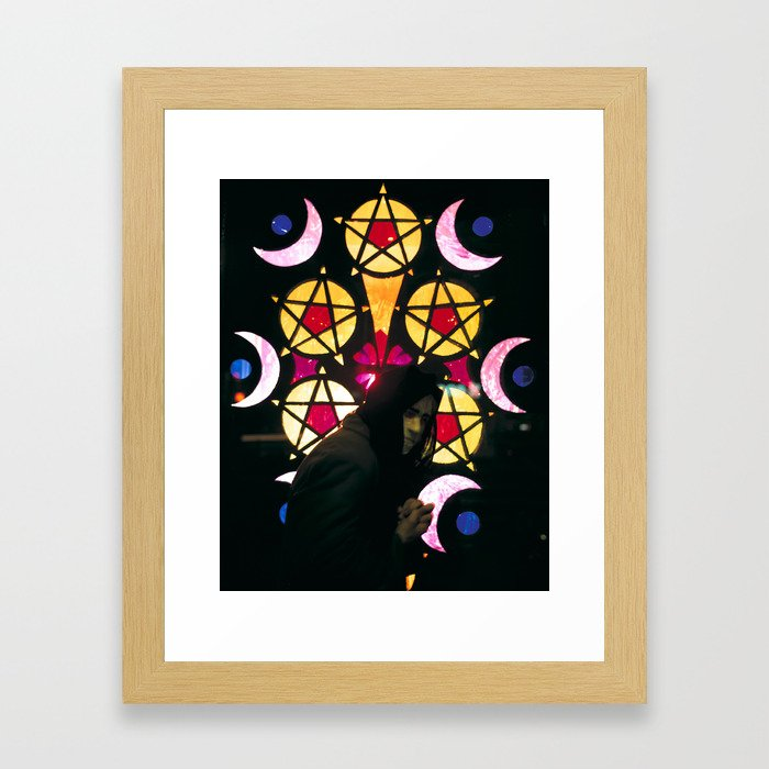 5 of Pentacles Framed Art Print