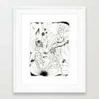 fairies Framed Art Prints featuring Fairies by Miskelle