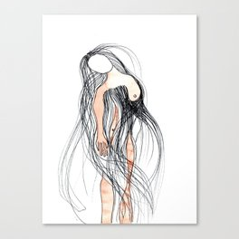 naked red Canvas Print