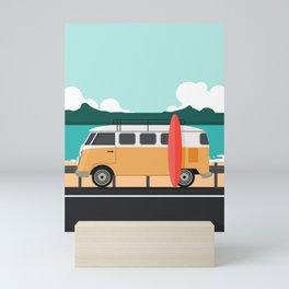 Road Trip on Van Mini Art Print