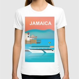 Jamaica - Skyline lllustration by Loose Petals T-shirt