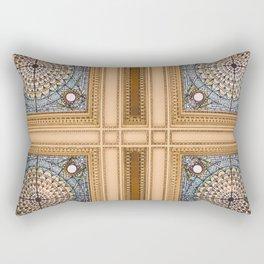 Teal x Gold X Washington DC architecture Rectangular Pillow