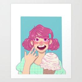 Ice Cream Gal Art Print