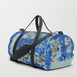 Abstract anarchism blue pattern Duffle Bag