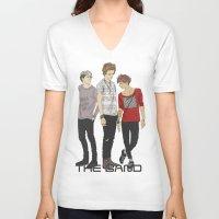 """band V-neck T-shirts featuring """" THE Band """" by Karu Kara"""
