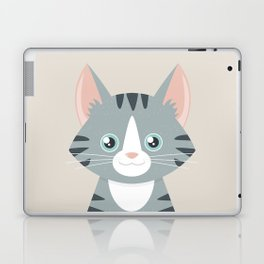 Grey Tabby Cat Laptop & iPad Skin