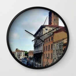 Italy in a view: A Spring Day In Venice Wall Clock