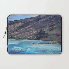Breathtaking View of Hawaiian Island From a Helicopter Laptop Sleeve