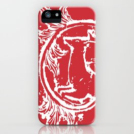 twin dancing stags of asheville from a wood carving iPhone Case