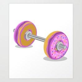 Donut Weight Artwork Art Print
