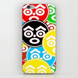 """ZULU NATION: MULTI-COLOR LOGO DUECE"" iPhone Skin"