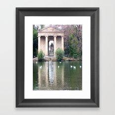 Reflection at Villa Borghese. Framed Art Print