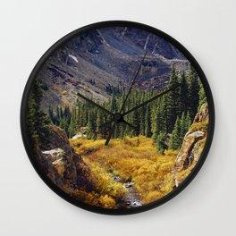 Autumn in Colorado Wall Clock