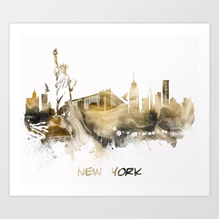 New York City Skyline #nyc #newyork Art Print