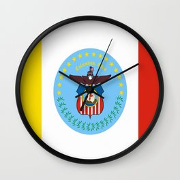 flag of Colombus Wall Clock