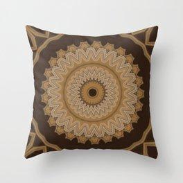 Sequential Baseline Mandala 5 Throw Pillow
