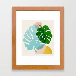 Abstraction_PLANTS_01 Framed Art Print