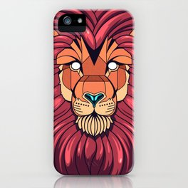 The eyes of a Lion iPhone Case