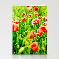 poppies Stationery Cards featuring Poppies by Falko Follert Art-FF77