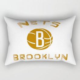 Nets Brooklyn logo Rectangular Pillow